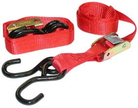 Tie down set red